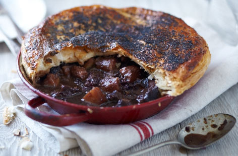 Beef, blackberry and star anise pies