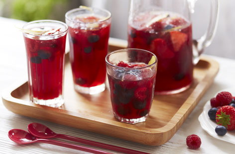 Berried slushy sangria