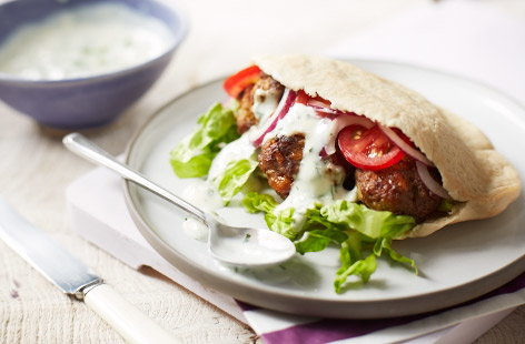 Lamb and apricot kofta kebabs