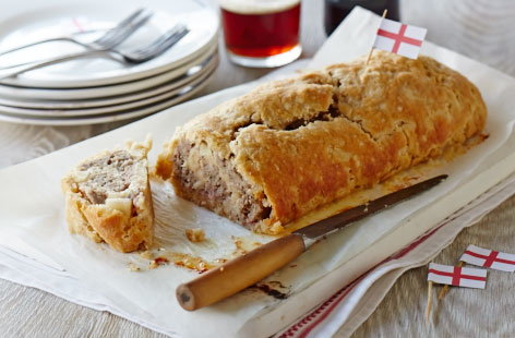 Sausage and bacon roly poly | Tesco Real Food