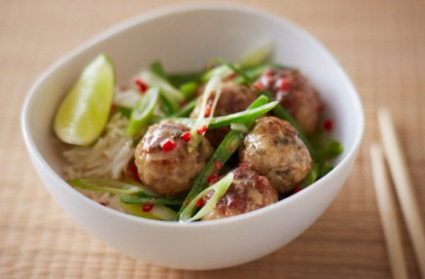 Thai green curry meatballs