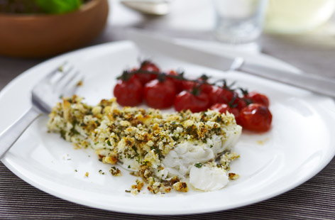 parmigiano crusted tilapia with quick tomato sauce herb crusted round ...