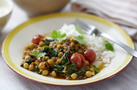 HEALTHY LentilandSpinachCurry He