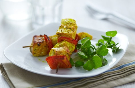 Spiced fish kebabs