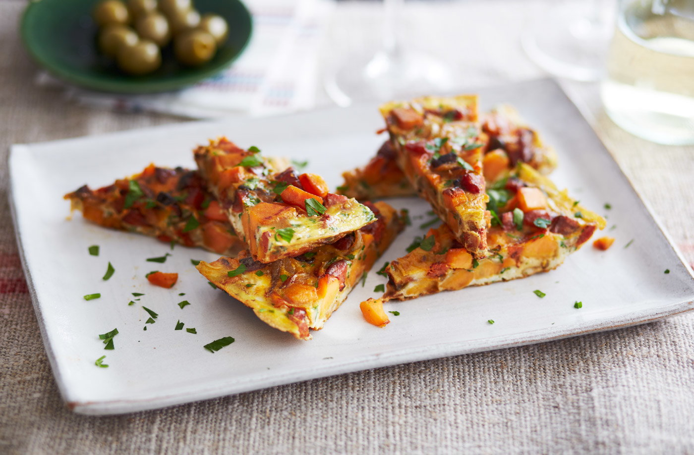 Spanish omelette with chorizo and sweet potato | Tesco ...