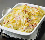 Ham and leek macaroni cheese