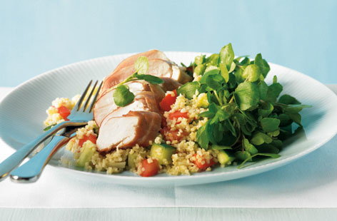 Ham wrapped chicken with bulgar salad and watercress thumbnail 21de2443 7e6b 4385 bdbf e0c6cc39d1cb 0 146x128