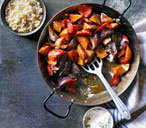 Harissa roasted butternut squash and peppers with mint yogurt THUMB