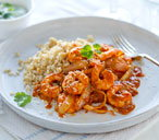 Healthy living prawn tikka masala