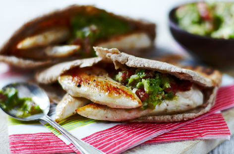 Healthy PC wholemealpittasstufedwithchickenguacamole He