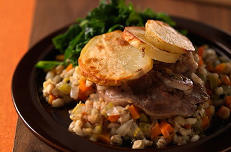 Hearty lamb & barley hotpotTHUMB