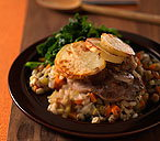 Hearty lamb and barley hotpot