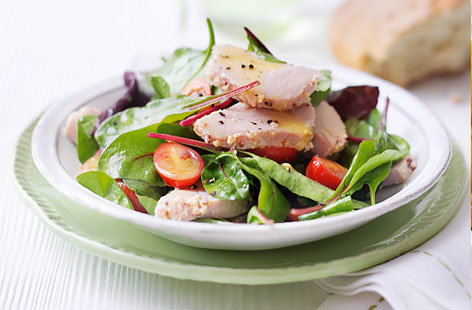 Honey and mustard gammon salad hero