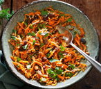 Indian-spiced carrot salad