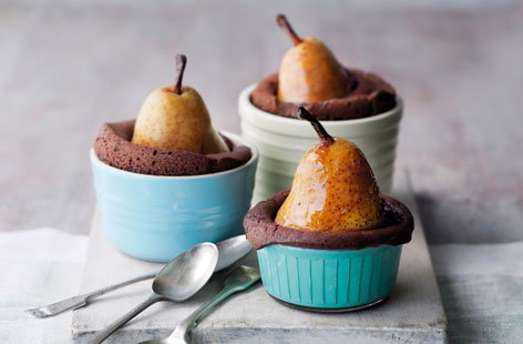 Individual pear and chocolate cake pots thumbnail cac961a9 27dd 4577 aea0 3e4e92cda225 0 146x128