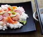 Scattered sushi rice salad