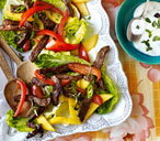 Jamaican beef and pepper salad THUMB
