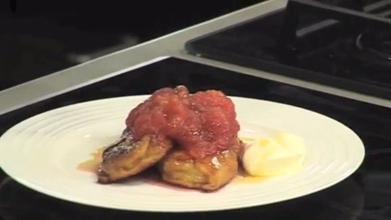 Jason Atherton   How to Make Fruity Plum and Apple Bruschetta