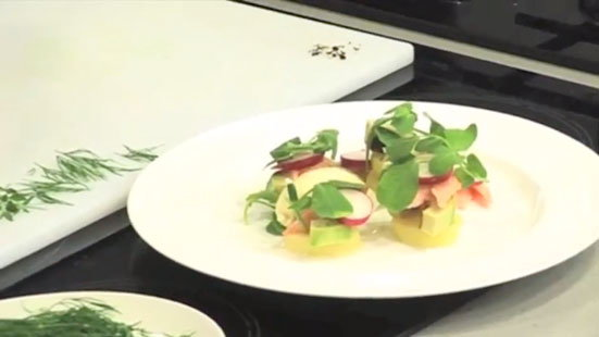 Jason Atherton   Smoked Trout, New Potato and Avocado Starter