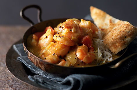 Spicy Kerala prawn curry