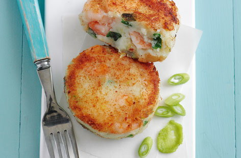 King prawn fishcakes