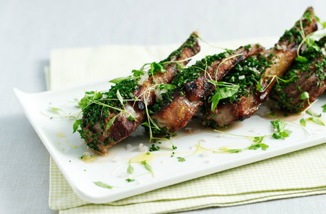 Lamb chops with olives THUMB