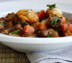 Lamb casserole with dumplings