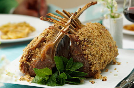 Lamb guard of honor with lemon and mint crust  thumb