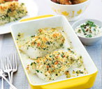 Lemon and herb crusted fish