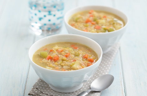 Super lentil and vegetable soup