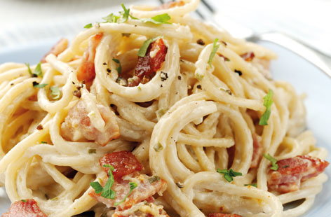 Light Wholewheat Spaghetti Carbonara (h)