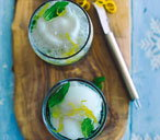 Lemon and mint sgroppino
