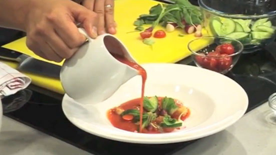 Make Delicious Gazpacho with Jason Atherton    Light Lunch