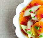 Melon and tangerine fruit salad