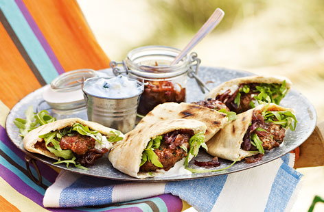 Mini Moroccan lamb pittas with sticky onions HERO