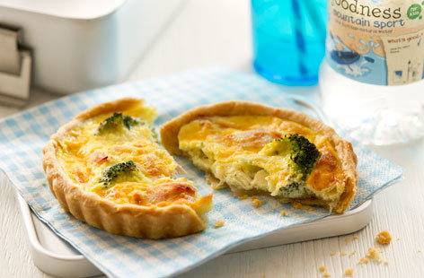 Mini ham, broccoli and cheese quiches