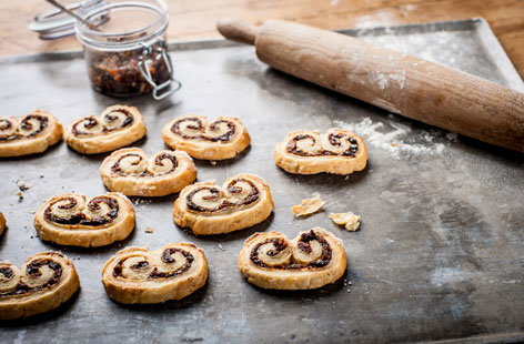 Adam Byatt's mini mincemeat puffs