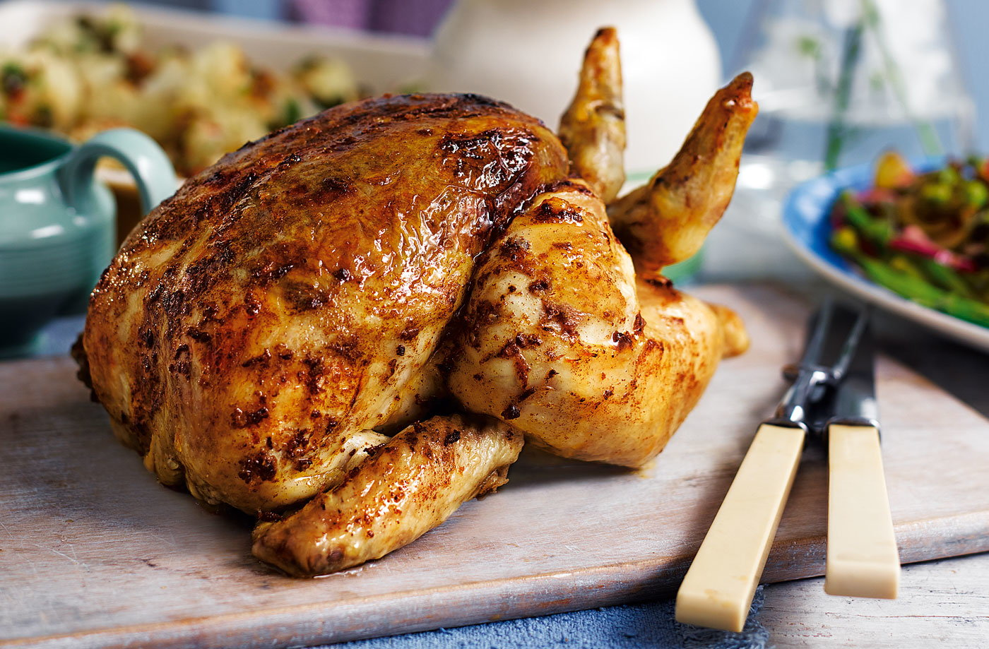 Moroccan-spiced roast chicken | Tesco Real Food