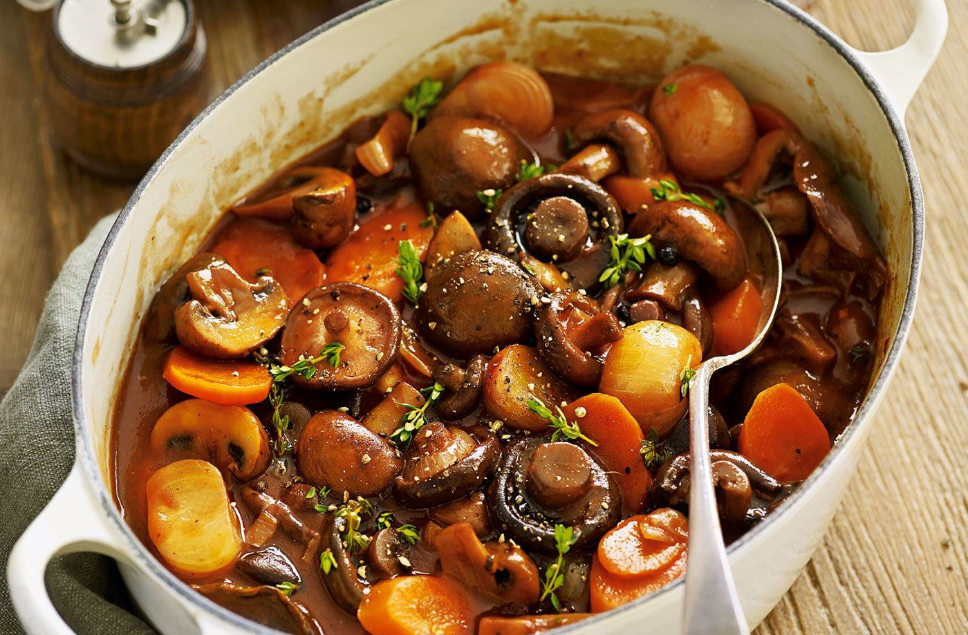Mushroom bourguignon | Tesco Real Food