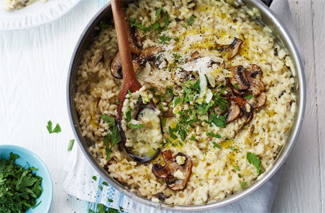 Mushroom, mascarpone and rosemary risotto