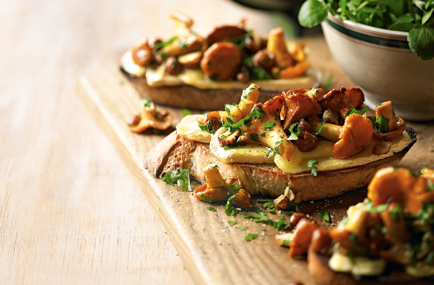 Wild mushrooms and brie on toast | Tesco Real Food