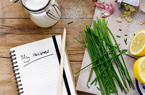 Use our helpful binder to keep track of all of your favourite recipes