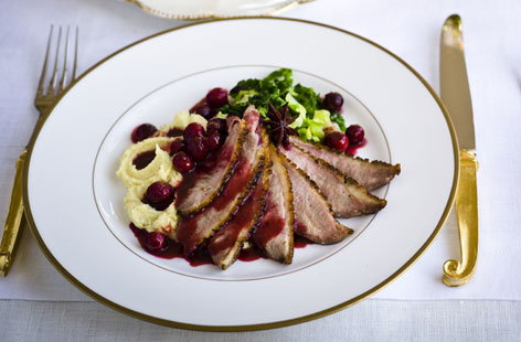 NEWduck breast with spiced orange HERO