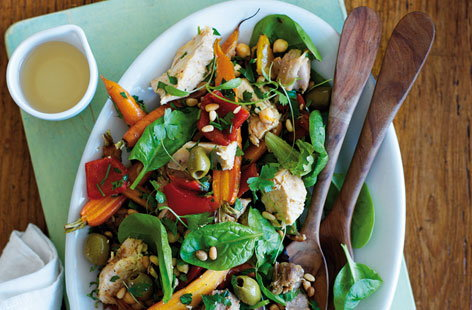 North African-style turkey salad