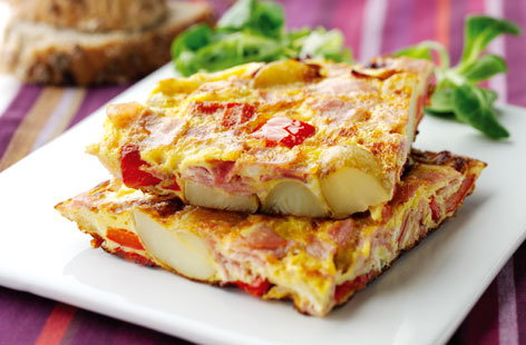 Oak Smoked Ham and Pepper Frittata (h)