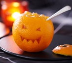Orange jack o'lanterns with jelly
