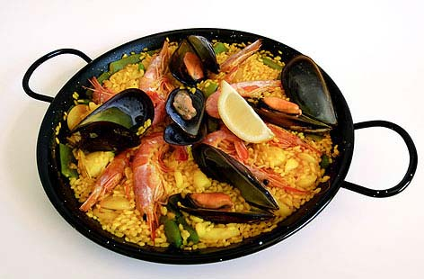 Paella (Spinach Rice Seafood and Saffron)THUMB