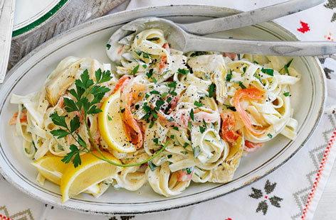 Salmon Pasta | Salmon Pasta Recipes | Tesco Real Food