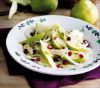 Pear fennel and pomegranate salad (T)