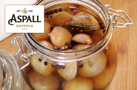 Honey spiced pickled onions